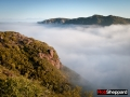 Early morning marine layer and chaparral, Santa Monica Mountains National Recreation Area, California
